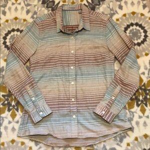 🌼Women's Toad&Co Striped Flannel sz. S🌼